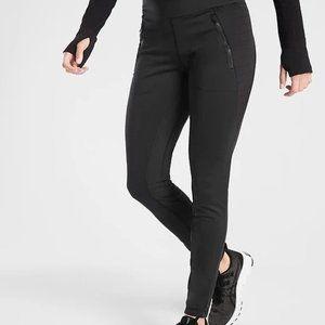 Athleta Peak Hybrid Fleece Tights size LT Black